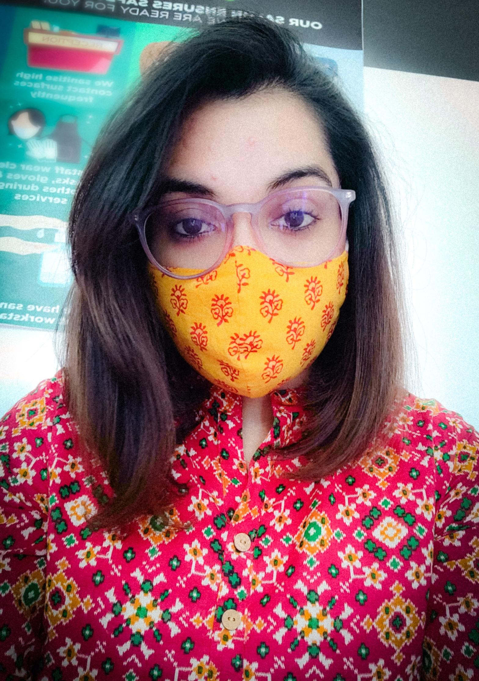 masking away.